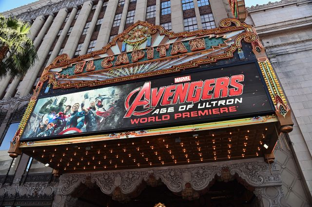 'Avengers: Age Of Ultron' marquee display