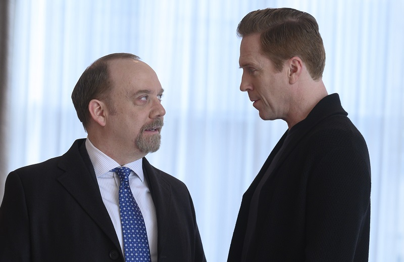 Paul Giamatti and Damian Lewis act in 'Billions'