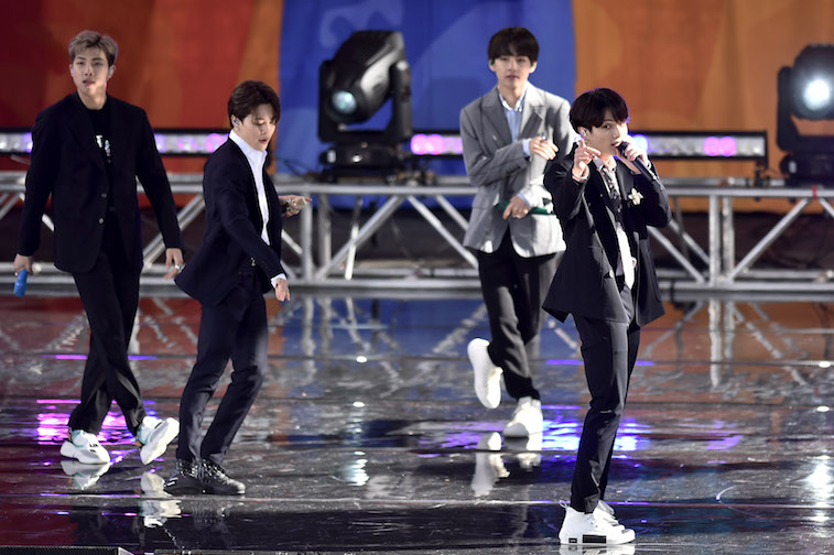 BTS performs onstage