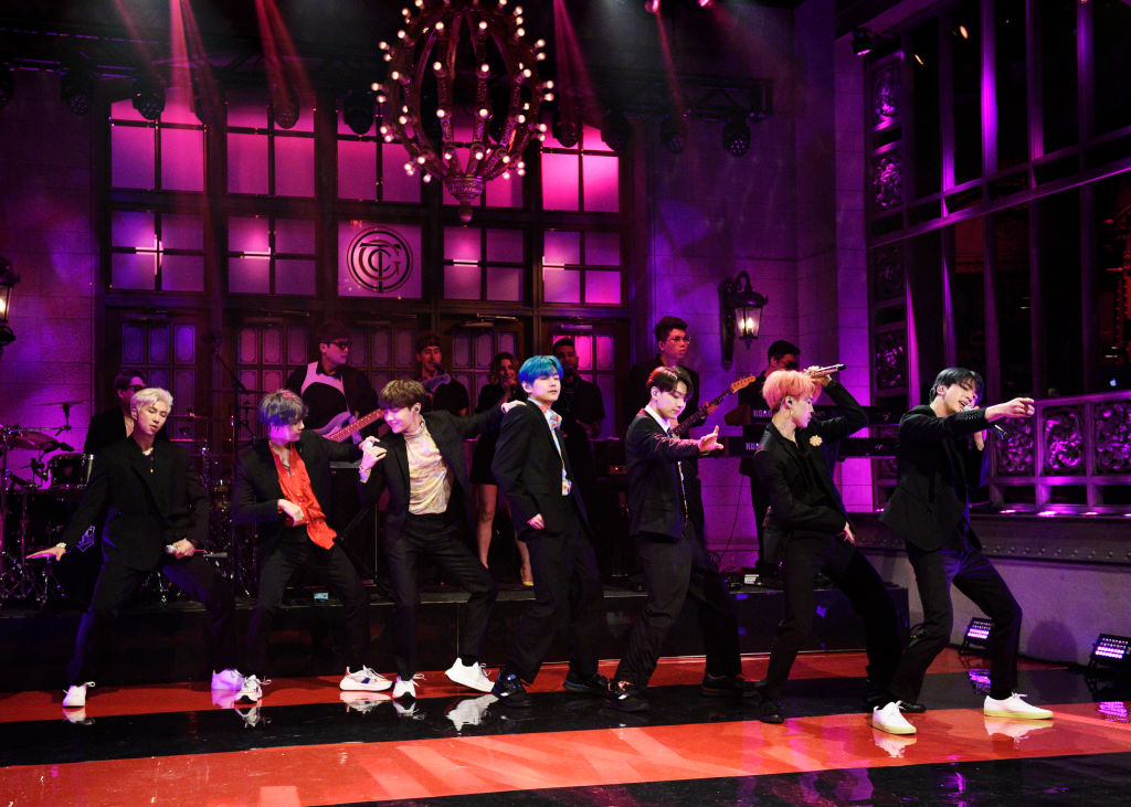 """Musical guest BTS performs """"Boy With Luv"""" in Studio 8H"""