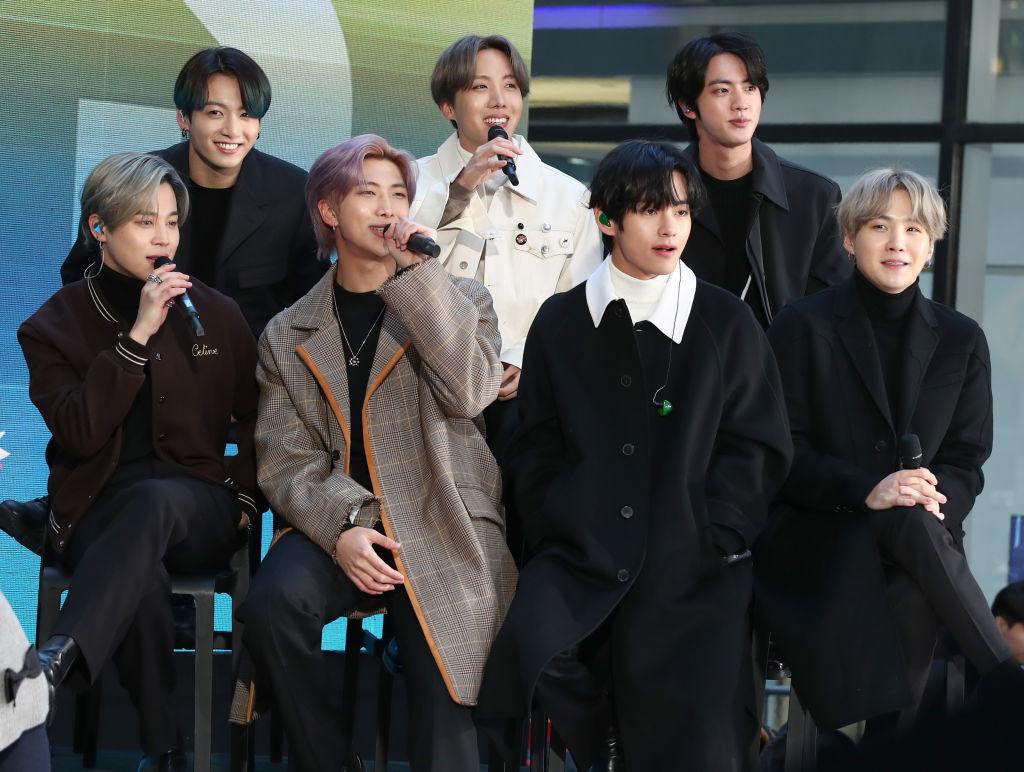 "Jimin, Jungkook, RM, J-Hope, V, Jin, and SUGA of the K-pop boy band BTS visit the ""Today"" Show"