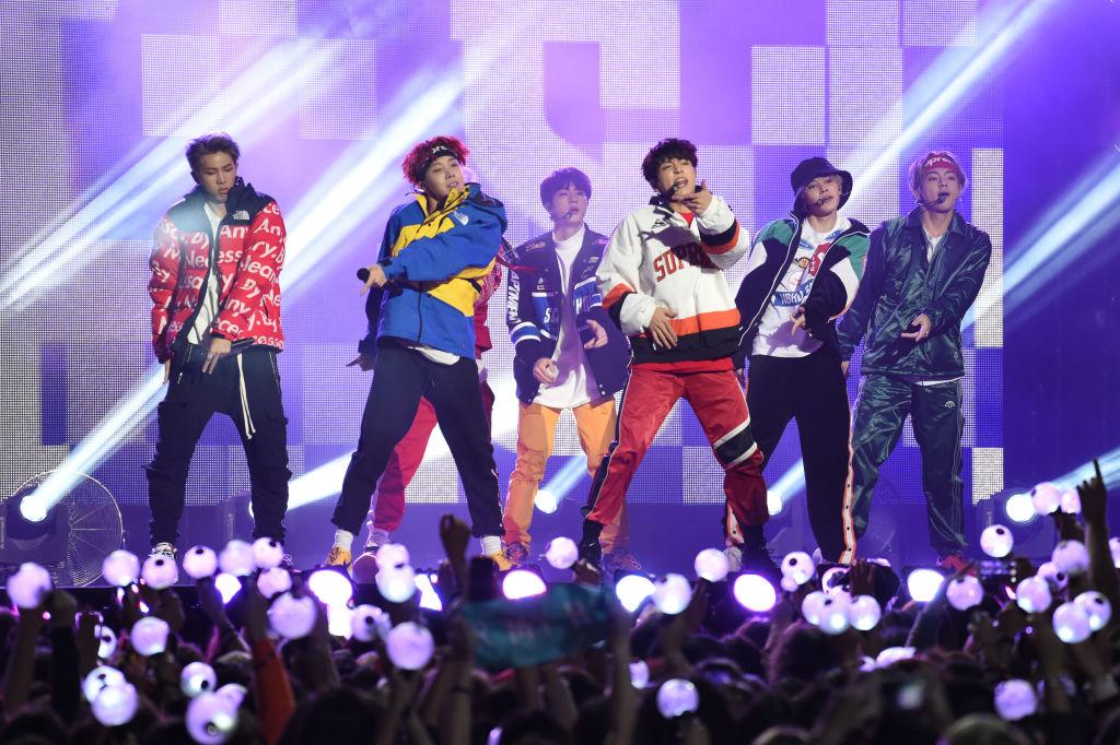 K-pop sensation BTS are seen at Jimmy Kimmel Live