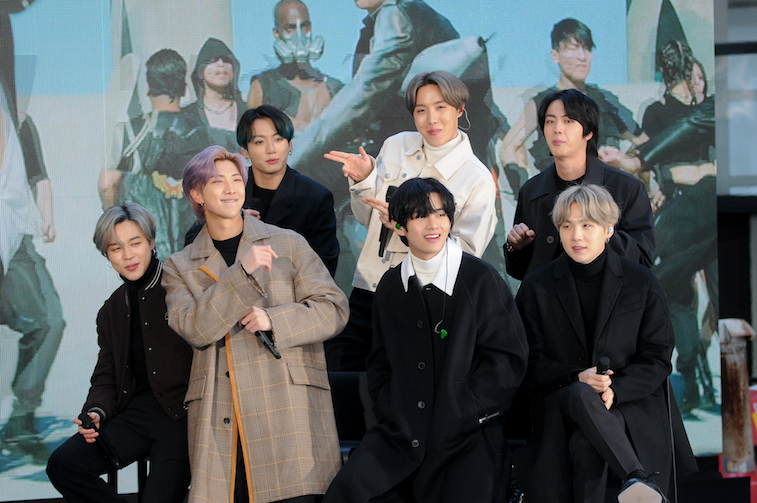 The members of the K-Pop band BTS