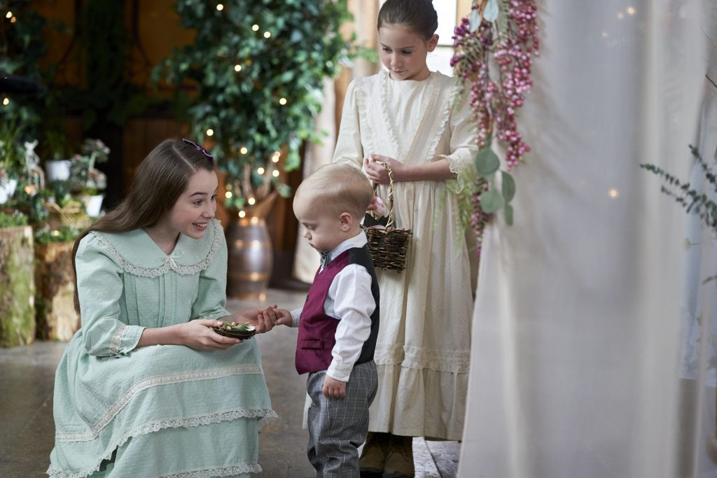 baby jack is a ringbearer at Clara and Jesse's wedding
