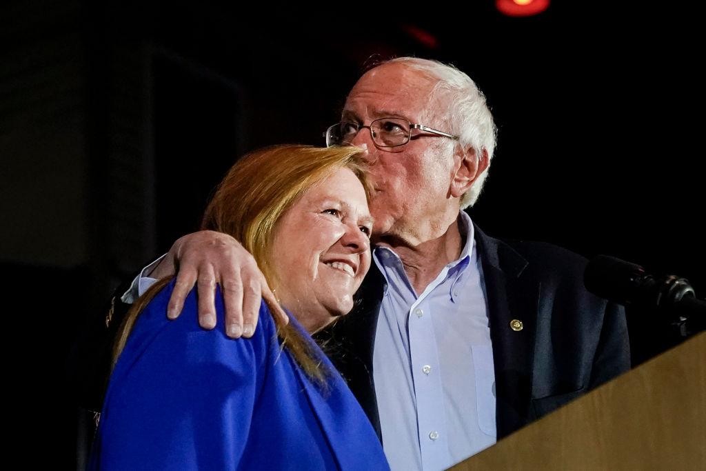 Bernie Sander and his wife, Jane O'Meara Sanders