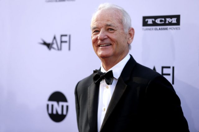Bill Murray attends the American Film Institute's Life Achievement Award Gala Tribute to George Clooney on June 7, 2018