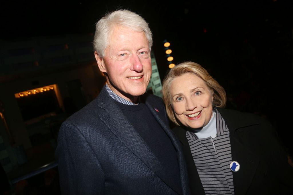 Former President Bill Clinton and Hillary Clinton