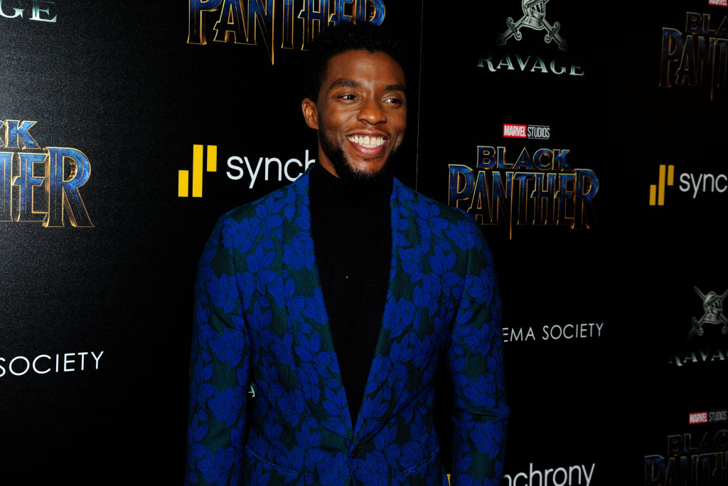 Chadwick Boseman of 'Black Panther' attends The Cinema Society with Ravage Wines