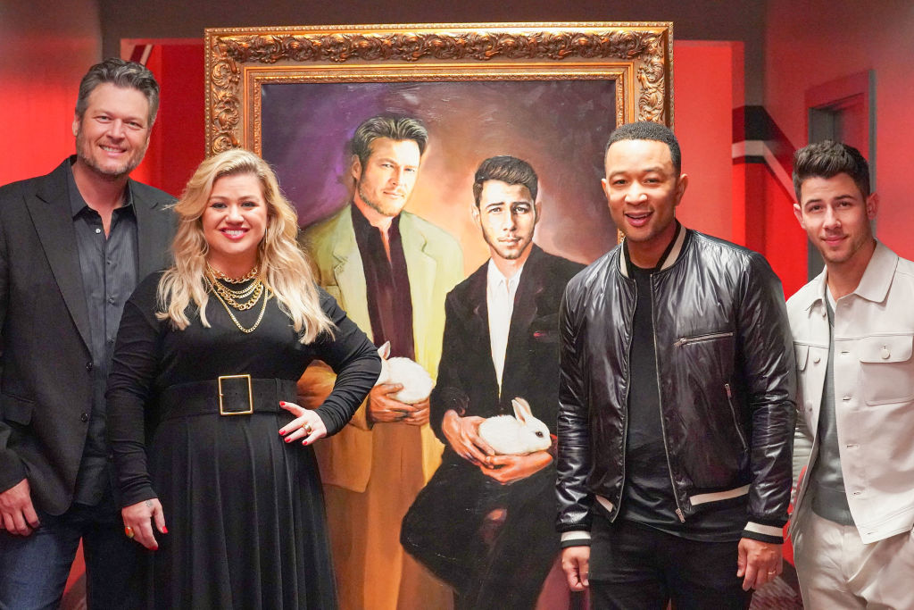 Blake Shelton, Kelly Clarkson, John Legend, Nick Jonas of 'The Voice'