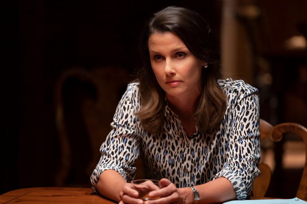 Bridget Moynahan on the set of Blue Bloods    Patrick Harbron/CBS via Getty Images