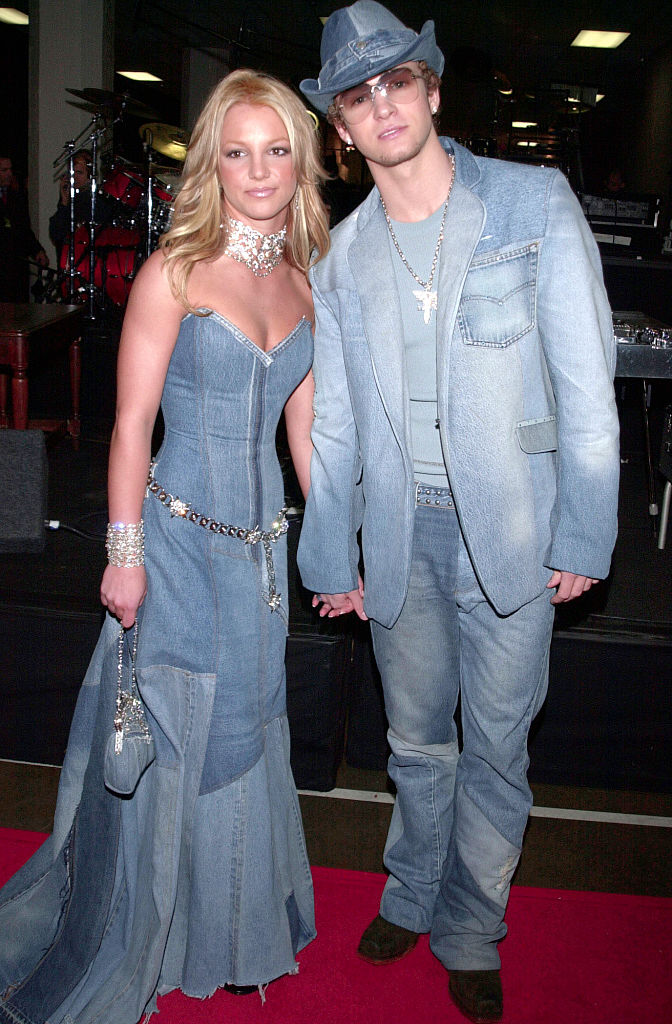 Britney Spears and Justin Timberlake at the 28th annual American Music Awards in 2001