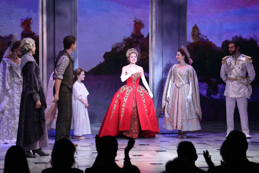 Christy Altomare and cast during Broadway Opening Night Performance Curtain Call bows for 'Anastasia'