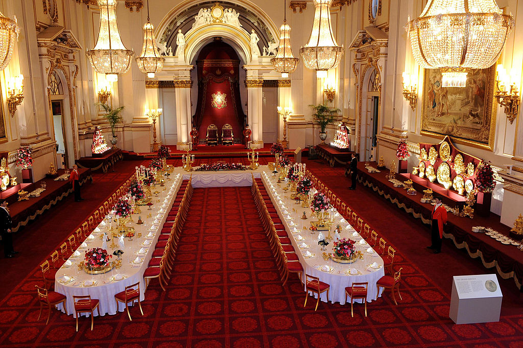 Buckingham Palace ballroom