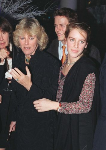 Camilla Parker Bowles with son, Tom, and daughter, Laura, at the opening of a jewelry store in 1998
