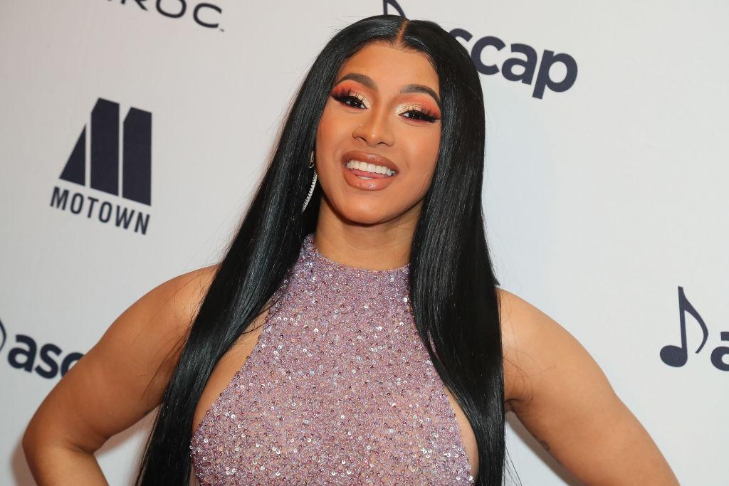 Cardi B at an award show in June 2019
