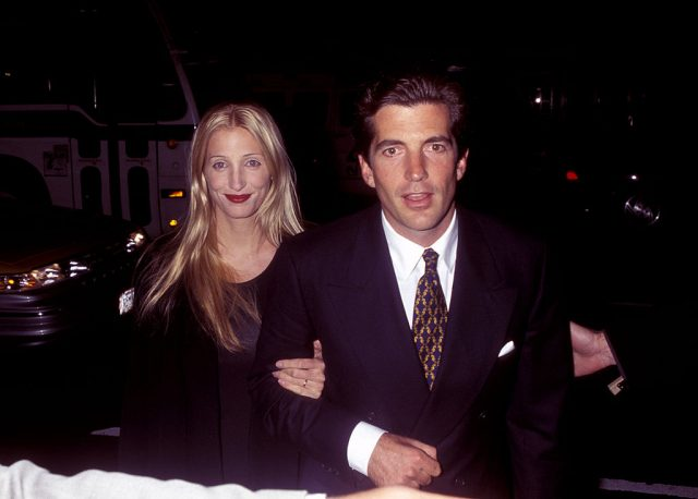 Carolyn Bessette Kennedy and JFK Jr. attend the second anniversary party of George magazine on Nov. 5, 1997