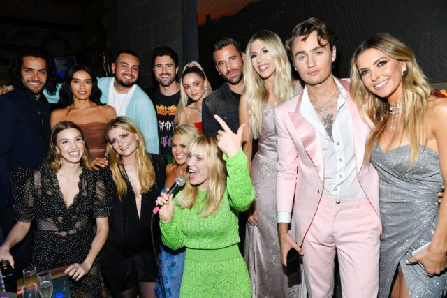 Cast of 'The Hills: New Beginnings' Season 1 with singer Natasha Bedingfield at the show's premiere on June 19, 2019