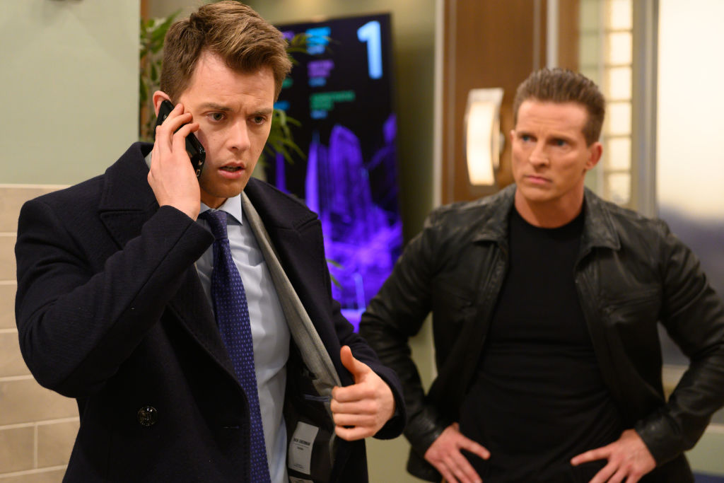 Chad Duell and Steve Burton on 'General Hospital'