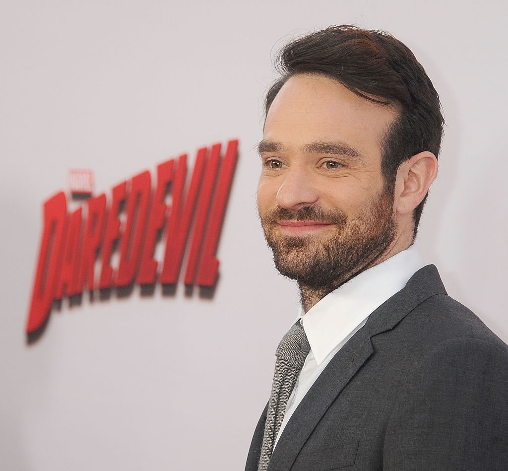 Charlie Cox at the premiere of 'Marvel's Daredevil'