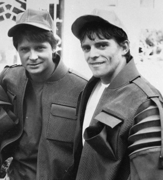Charlie Croughwell and Michael J. Fox