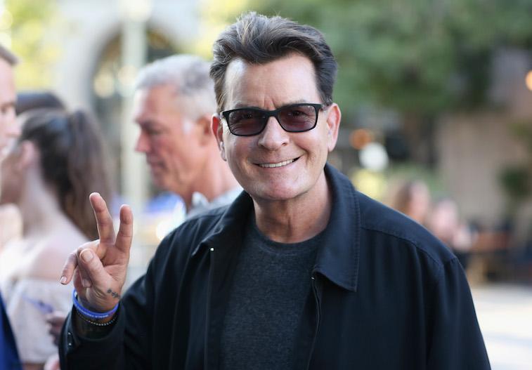 Charlie Sheen at LA Film Festival
