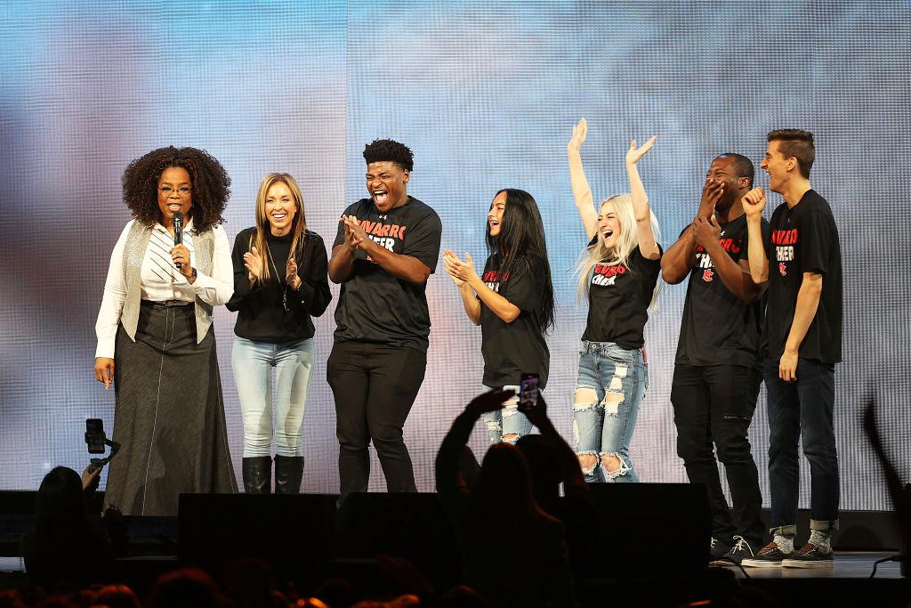 Cheer cast on Oprah