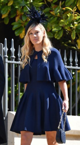 Chelsy Davy attends the royal wedding of Prince Harry and Meghan Markle on May 19, 2018