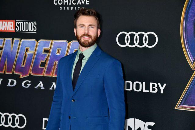 Chris Evans attends the premiere of 'Avengers: Endgame' on April 22, 2019