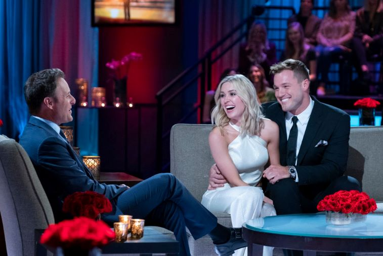 Chris Harrison, Cassie Randolph, and Colton Underwood