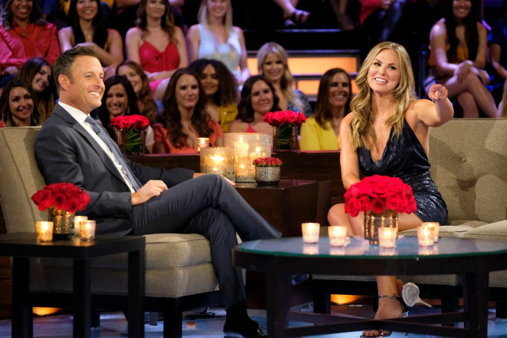 "Chris Harrison and Hannah Brown on ABC's ""The Bachelorette"" - Season 15"