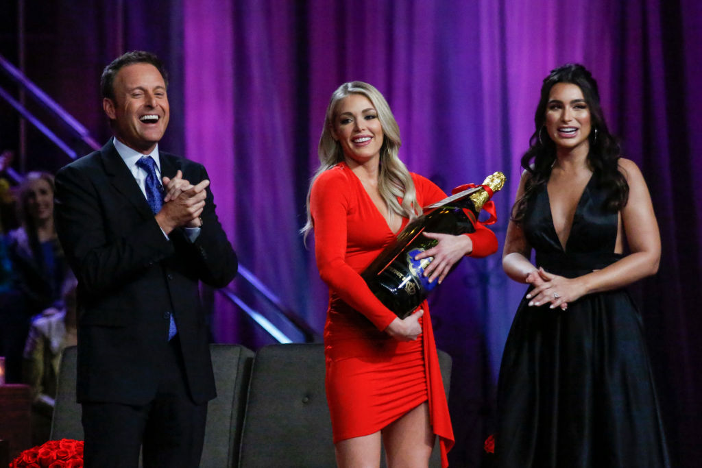 Chris Harrison, Kelsey Weier, and Ashley Iaconetti | Kelsey McNeal via Getty Images