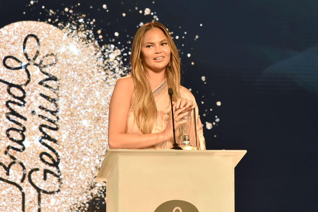 Chrissy Teigen attends The 2019 Brandweek Brand Genius Awards Gala