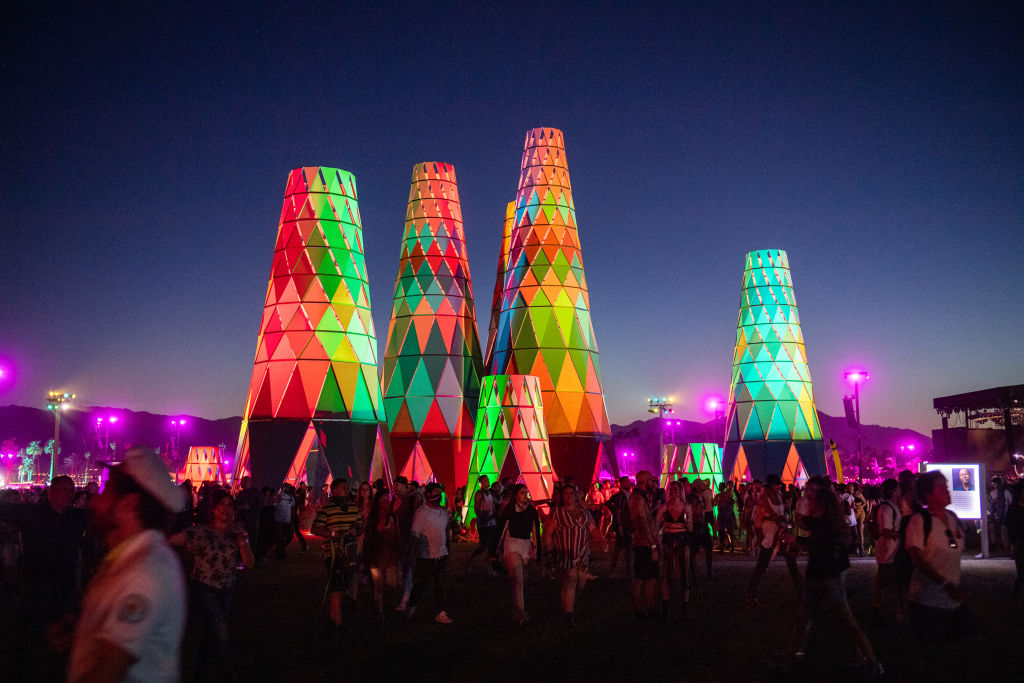 Festival goers at Coachella Music and Arts Festival
