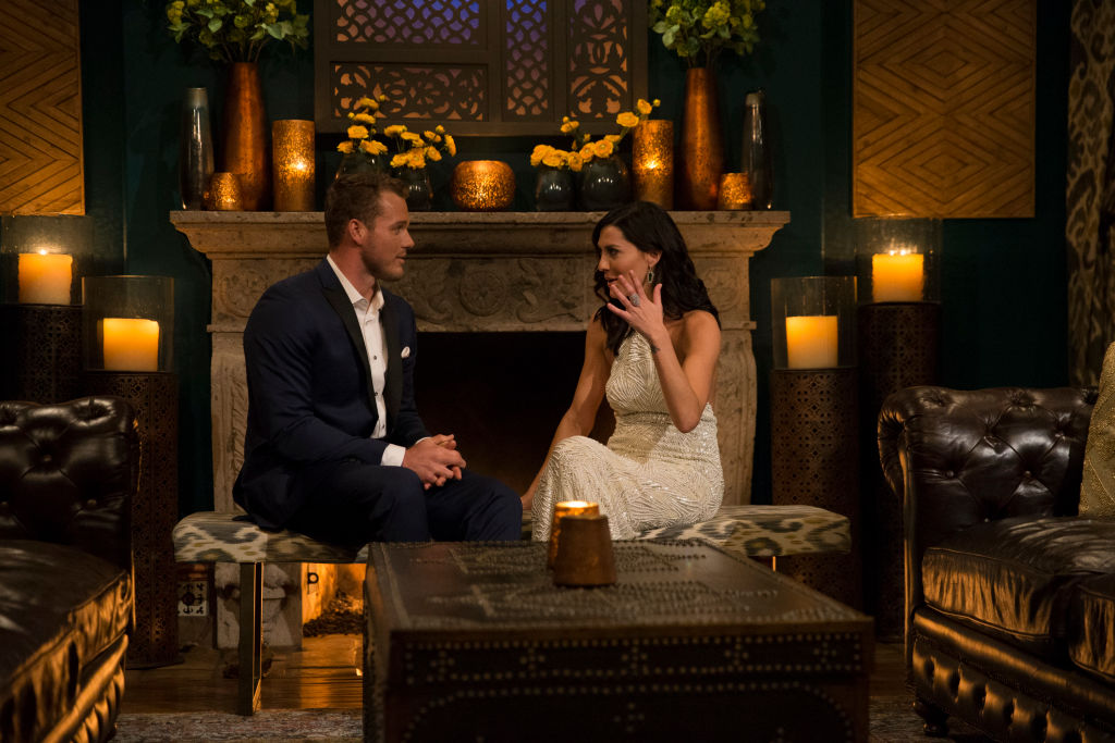 Becca Kufrin and Colton Underwood on 'The Bachelorette'