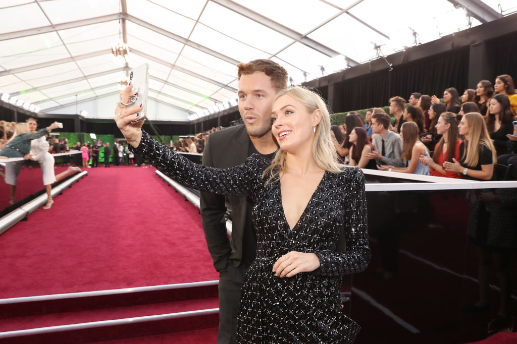 Colton Underwood and Cassie Randolph arrive to the 2019 E! People's Choice Awards