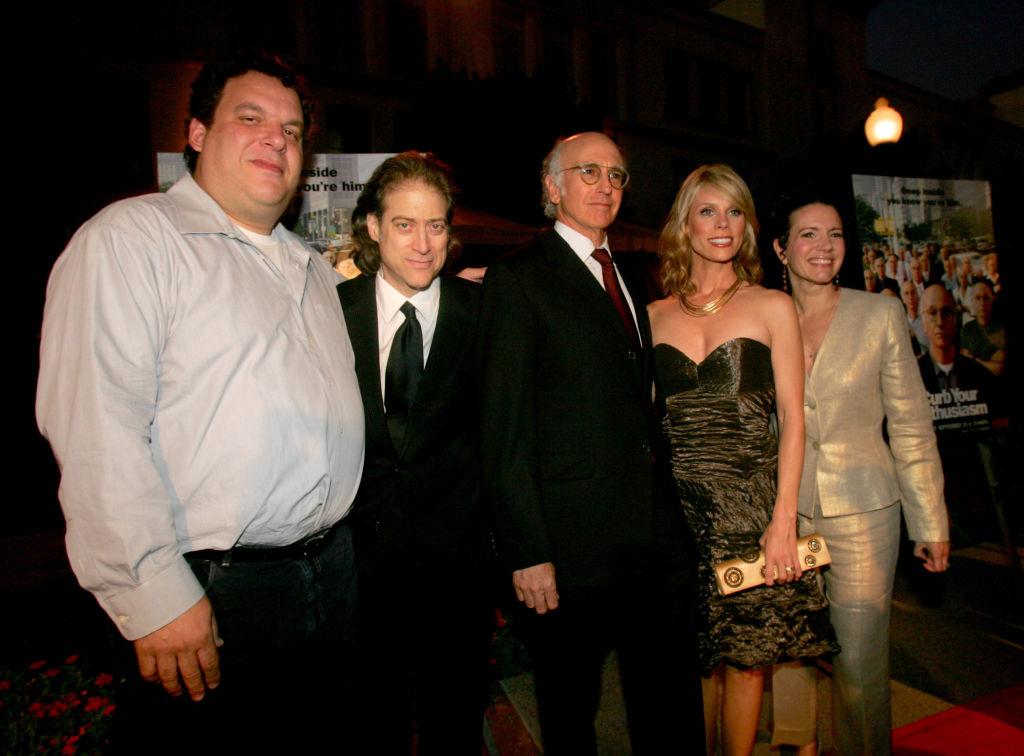 Jeff Garlin, Richard Lewis, Larry David, Cheryl Hines, and Susie Essman