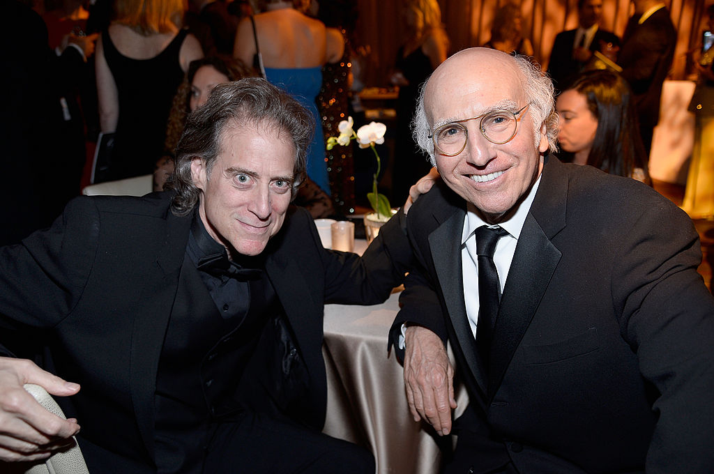 Richard Lewis and Larry David attend the 41st AFI Life Achievement Award Honoring Mel Brooks