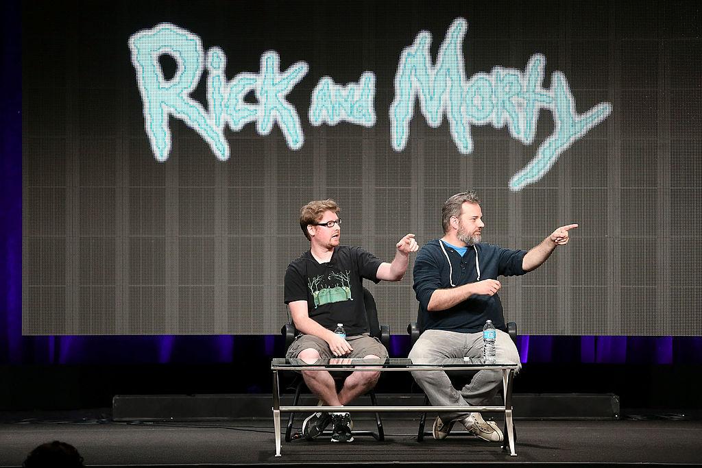 'Rick and Morty' creators Justin Roiland and Dan Harmon at 2013 Summer TCA Tour - Day 1