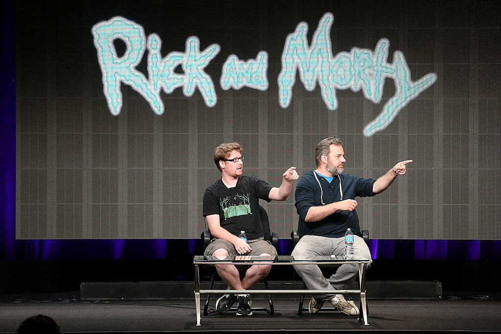 'Rick and Morty' creators Justin Roiland and Dan Harmon at 2013 Summer TCA Tour - Day 1