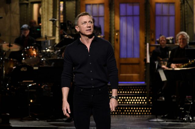Daniel Craig during the monologue on 'Saturday Night Live'