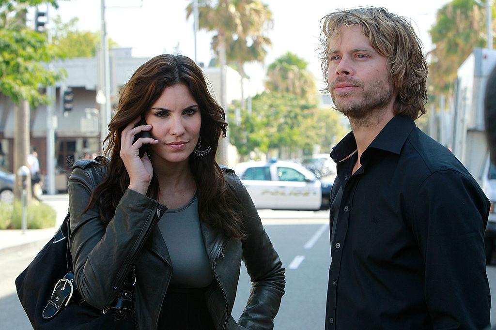 Daniela Ruah and Eric Christian Olsen | Cliff Lipson/CBS via Getty Images