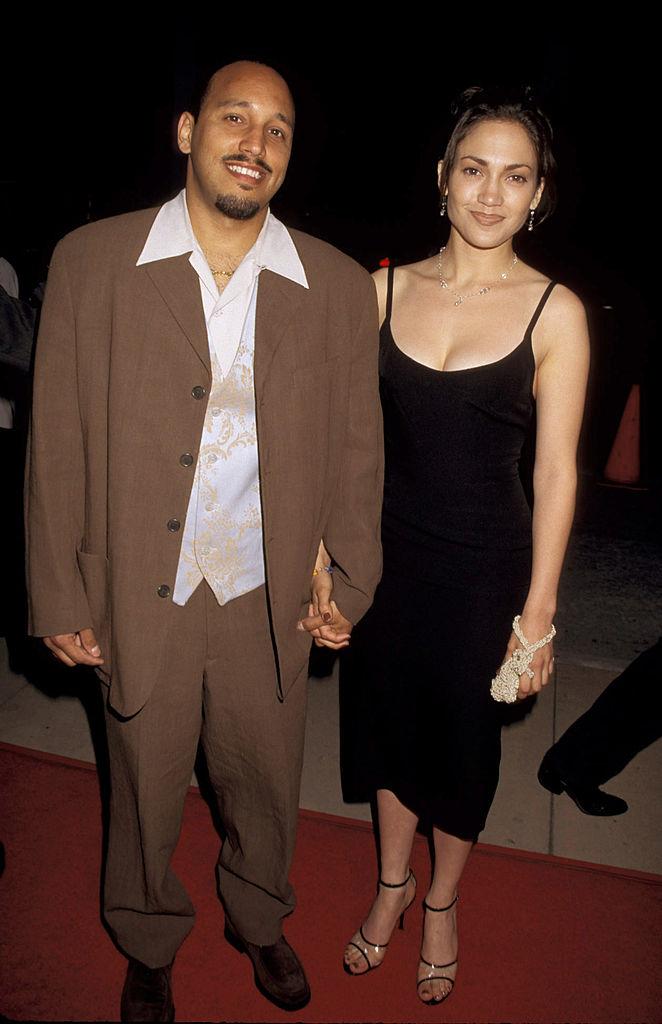 David Cruz and Jennifer Lopez on the red carpet