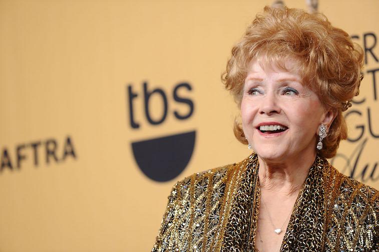 Debbie Reynolds on the red carpet