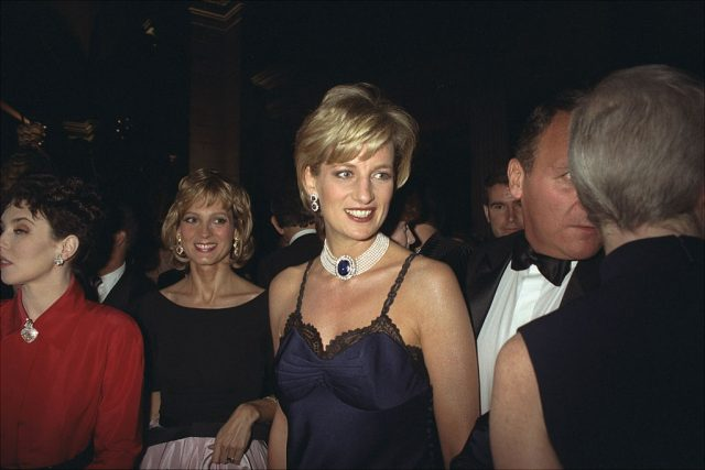 Diana, Princess of Wales attends the at Costume Institute Gala at Metropolitan Museum of Art in 1996