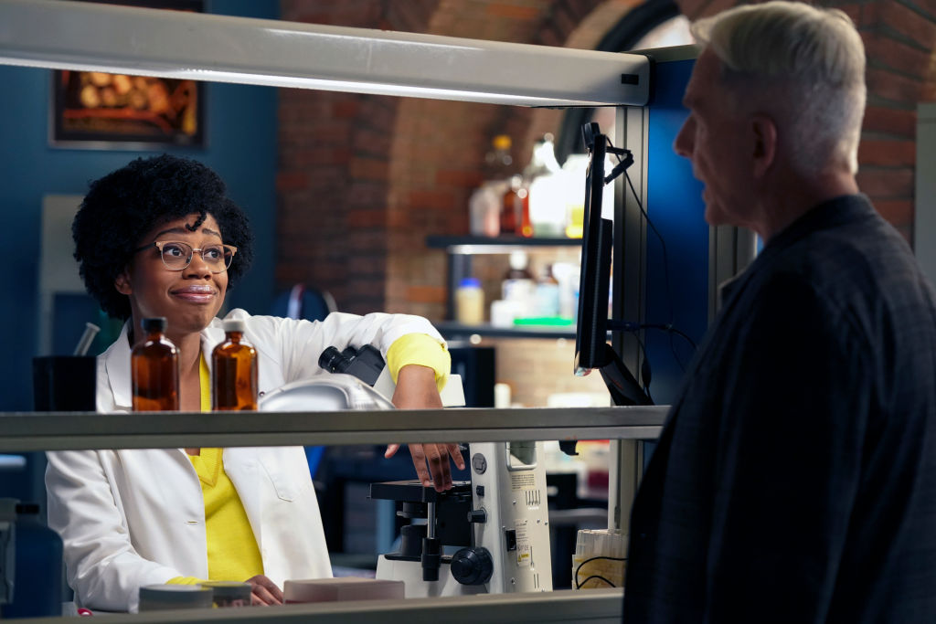 Diona Reasonover and Mark Harmon    Patrick McElhenney/CBS via Getty Images