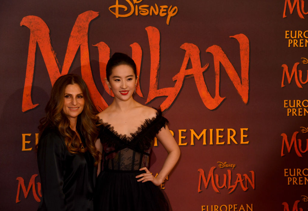 "Niki Caro and Yifei Liu attend the ""Mulan"" photocall"