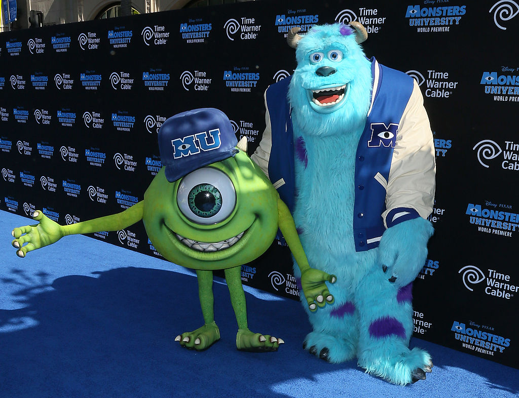 """Actors portraying """"Mike"""" and """"Sulley"""" attend the premiere of Disney Pixar's """"Monsters University"""""""