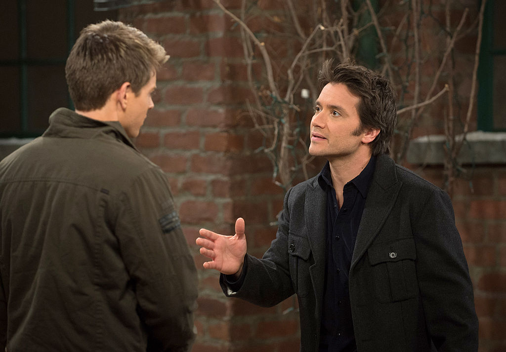 Chad Duell and Dominic Zamprogna on 'General Hospital' in 2014