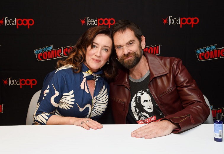 Maria Doyle Kennedy and Duncan Lacroix