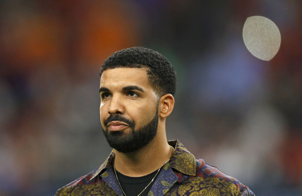 Drake at a sporting event in July 2017